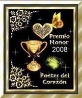 PREMIO HONOR 2008 Poetas del Corazón
